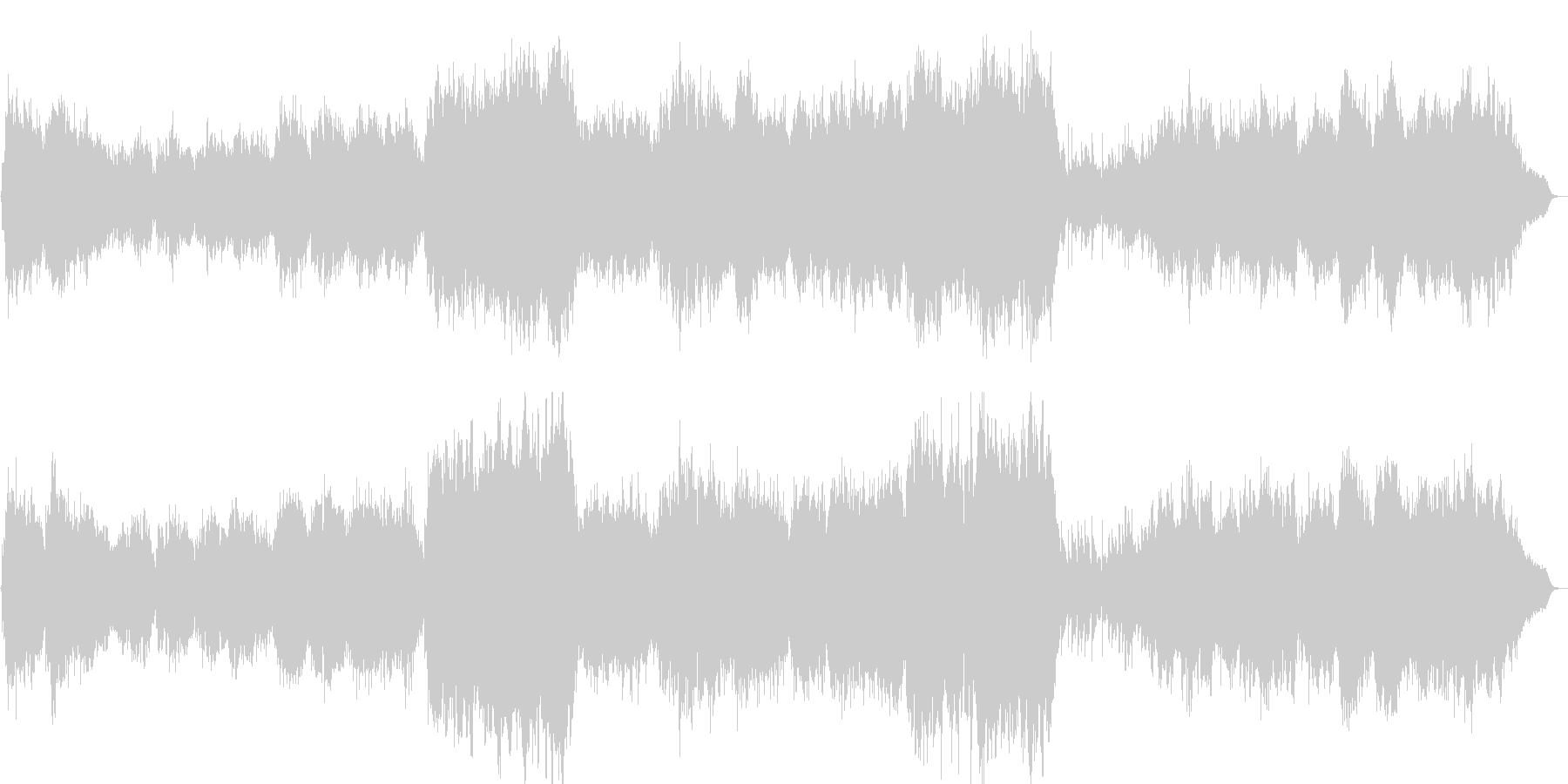 優しいイメージのヒーリング曲の未再生の波形