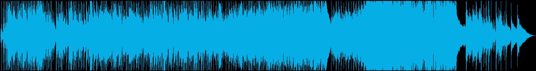 感情的でポップなバラード楽器の再生済みの波形
