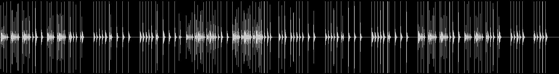 映像向木琴の優しくほのぼのとして素朴温かの未再生の波形