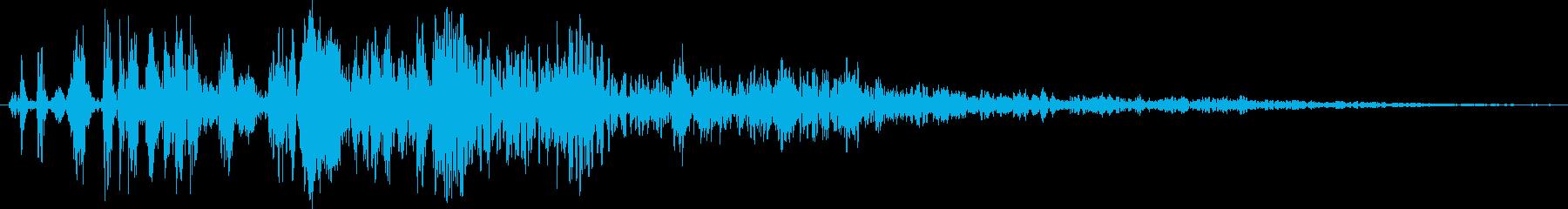 ボタンが消えるの再生済みの波形