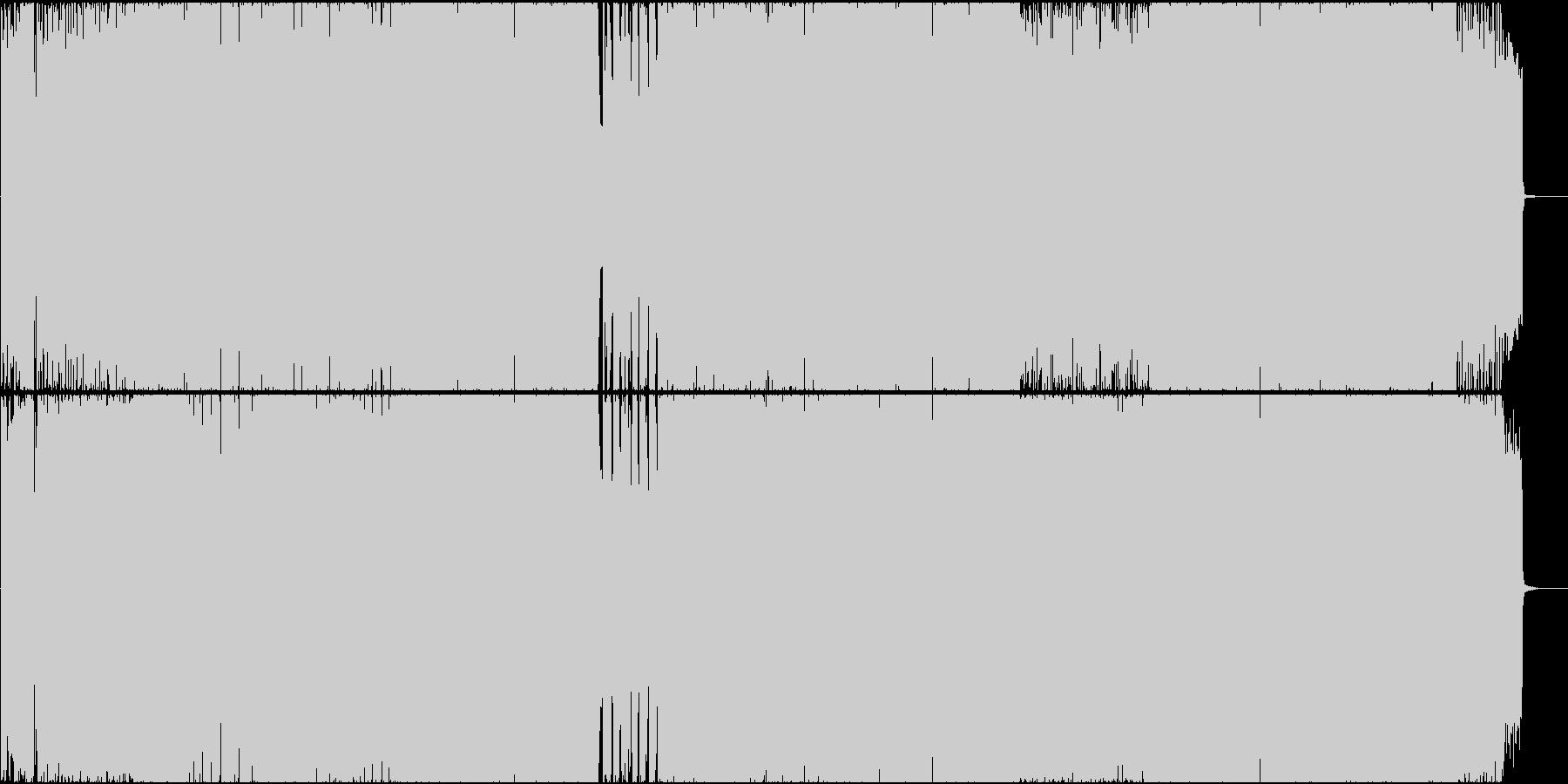 夢を諦めないデジタルハードロックの未再生の波形