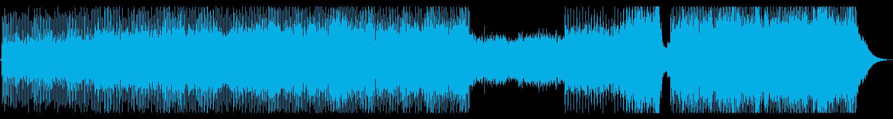 バグパイプを使ったケルト風トランスの再生済みの波形