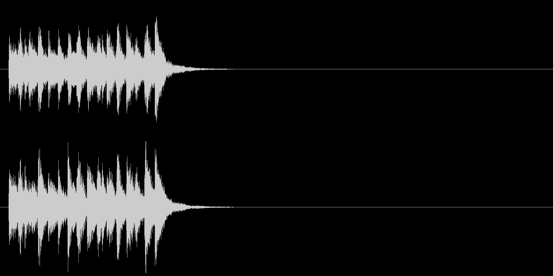 ジングル(コミカルなおとぼけ風)の未再生の波形