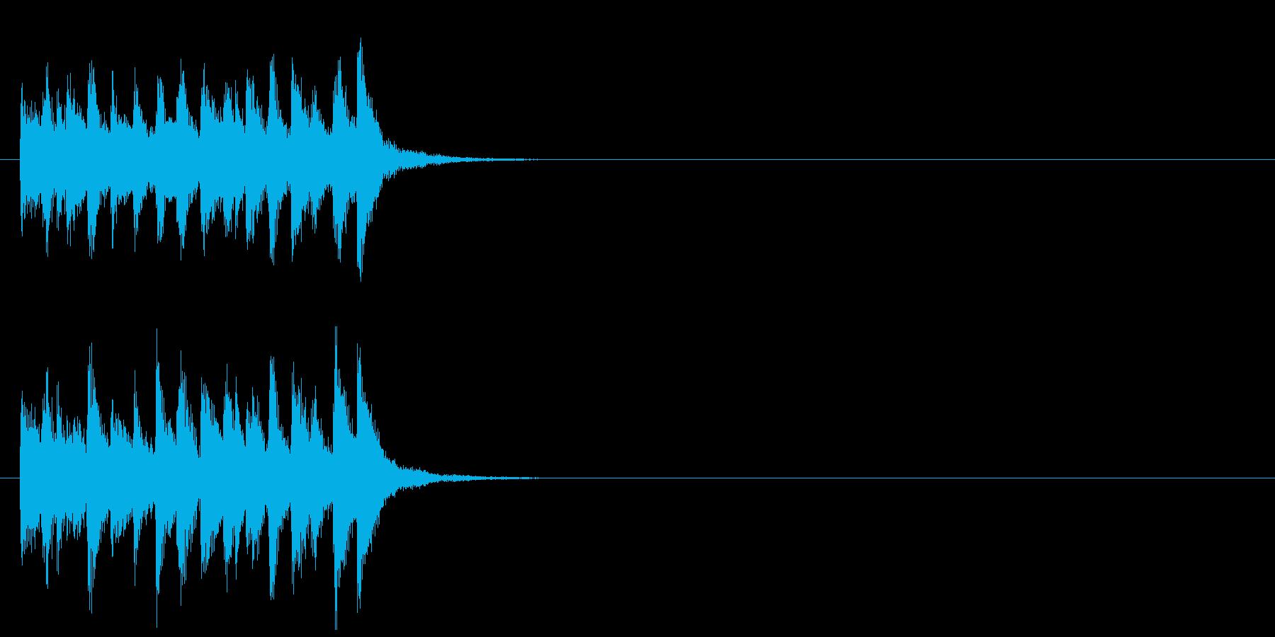 ジングル(コミカルなおとぼけ風)の再生済みの波形