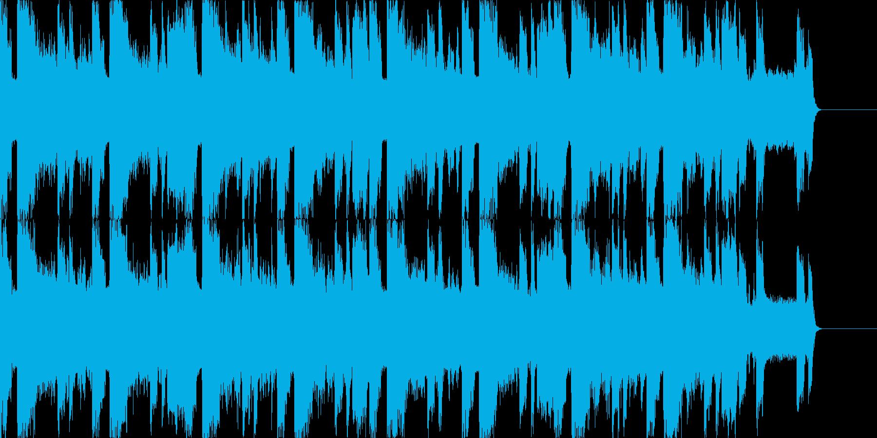アグレッシブなEDM、アクセントにの再生済みの波形