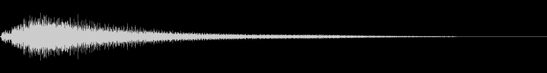 低音が効いたピアノジャラーン音の未再生の波形