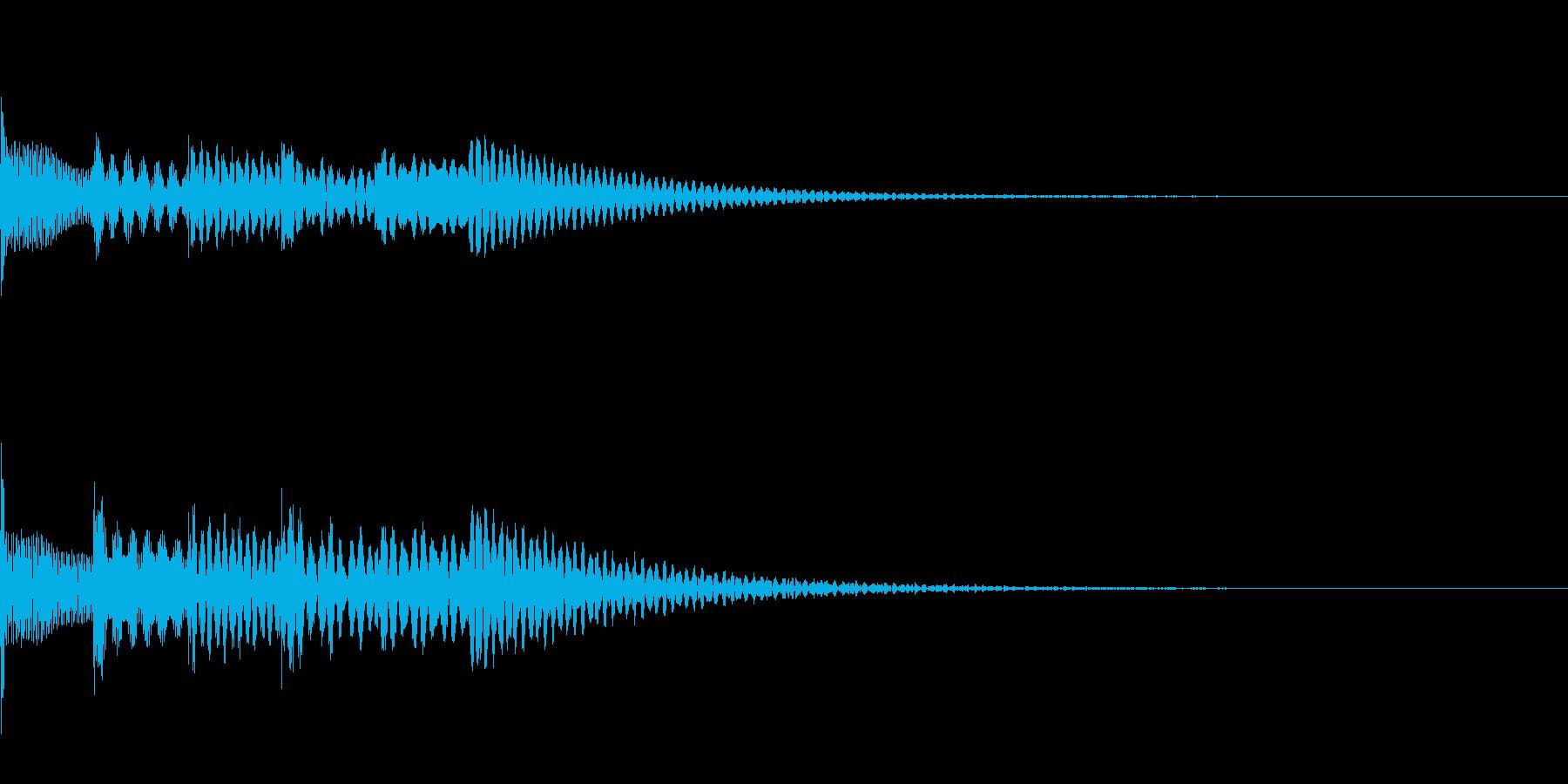 アイテム入手音1【ポロロポロロン】の再生済みの波形