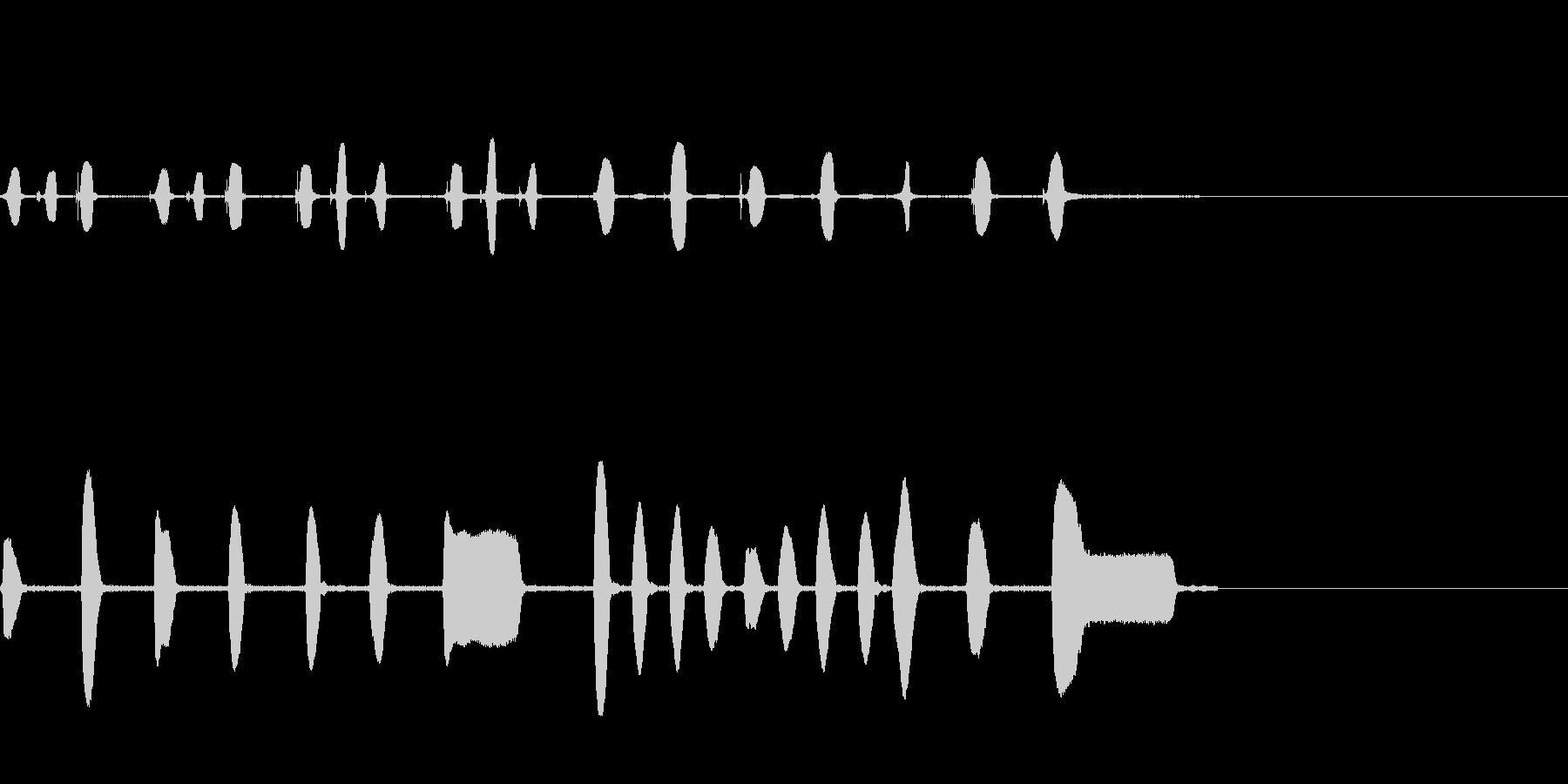生録音ピアニカとリコーダーのサウンドロゴの未再生の波形