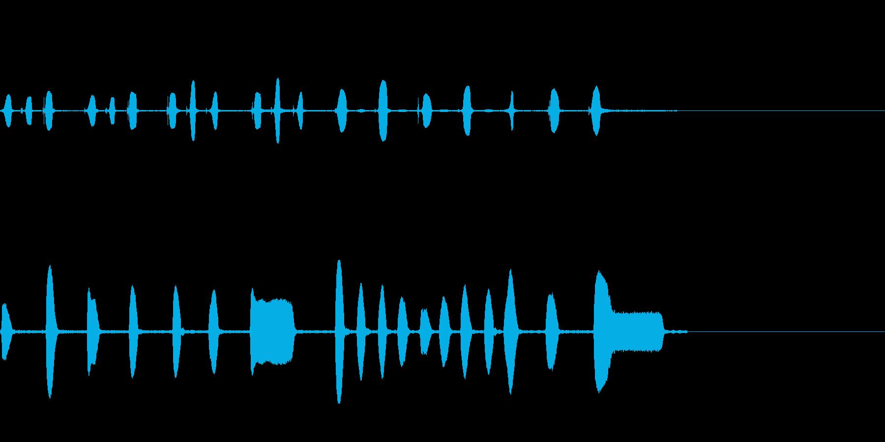 生録音ピアニカとリコーダーのサウンドロゴの再生済みの波形
