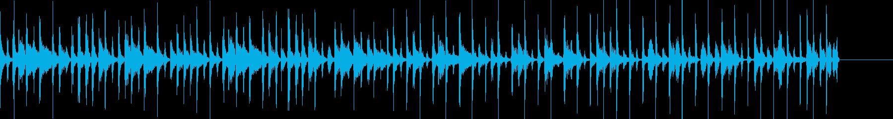 パーカッションとファミコン音で構築した曲の再生済みの波形
