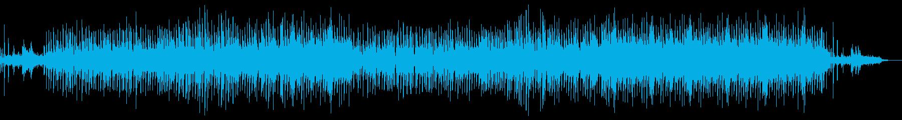 ストリングスを多様したポップス系BGMの再生済みの波形