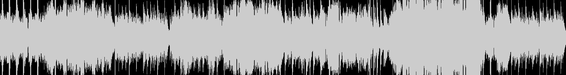 ピアノと尺八の穏やかな和風バラードループの未再生の波形