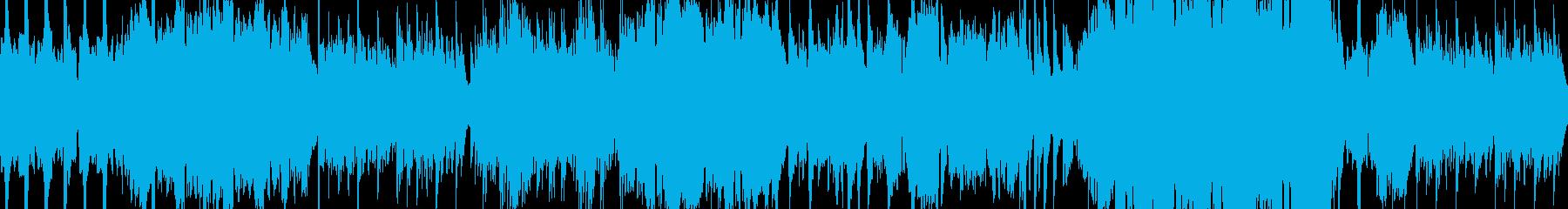 ピアノと尺八の穏やかな和風バラードループの再生済みの波形