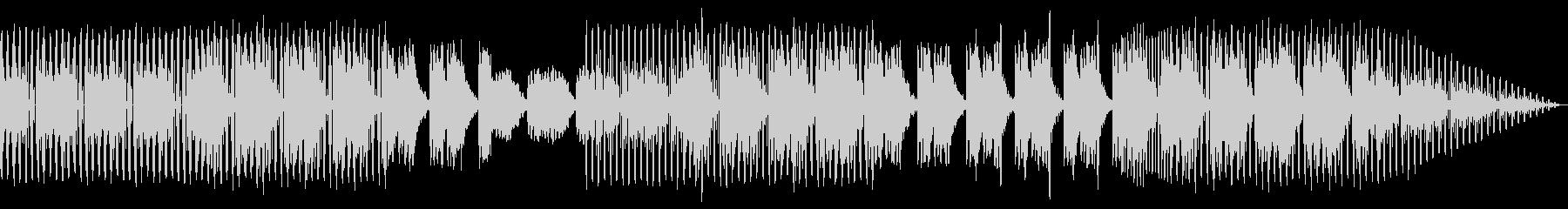 フレンチハウス。ファンキーの未再生の波形
