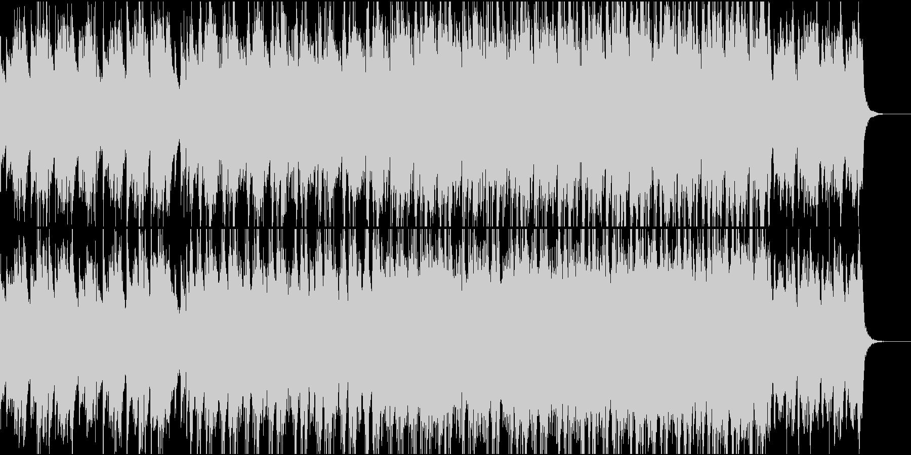 ストレートで爽やかなBGMの未再生の波形
