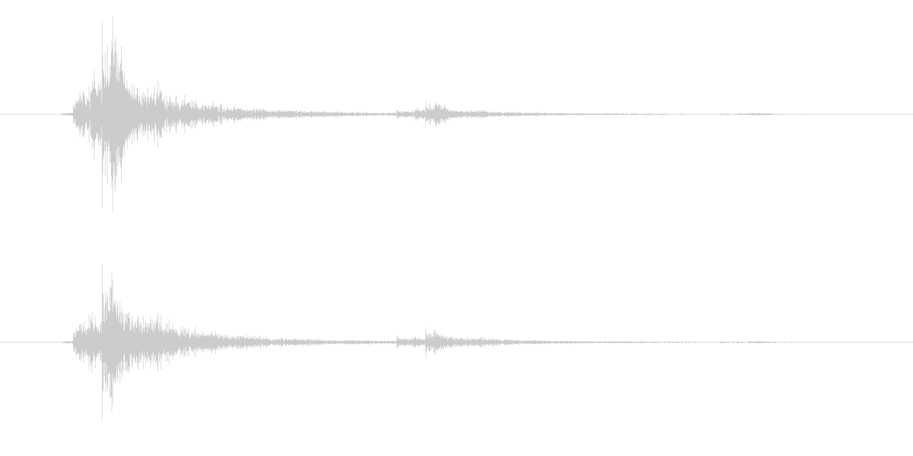 決定/クリック/選択音(シンプル)の未再生の波形