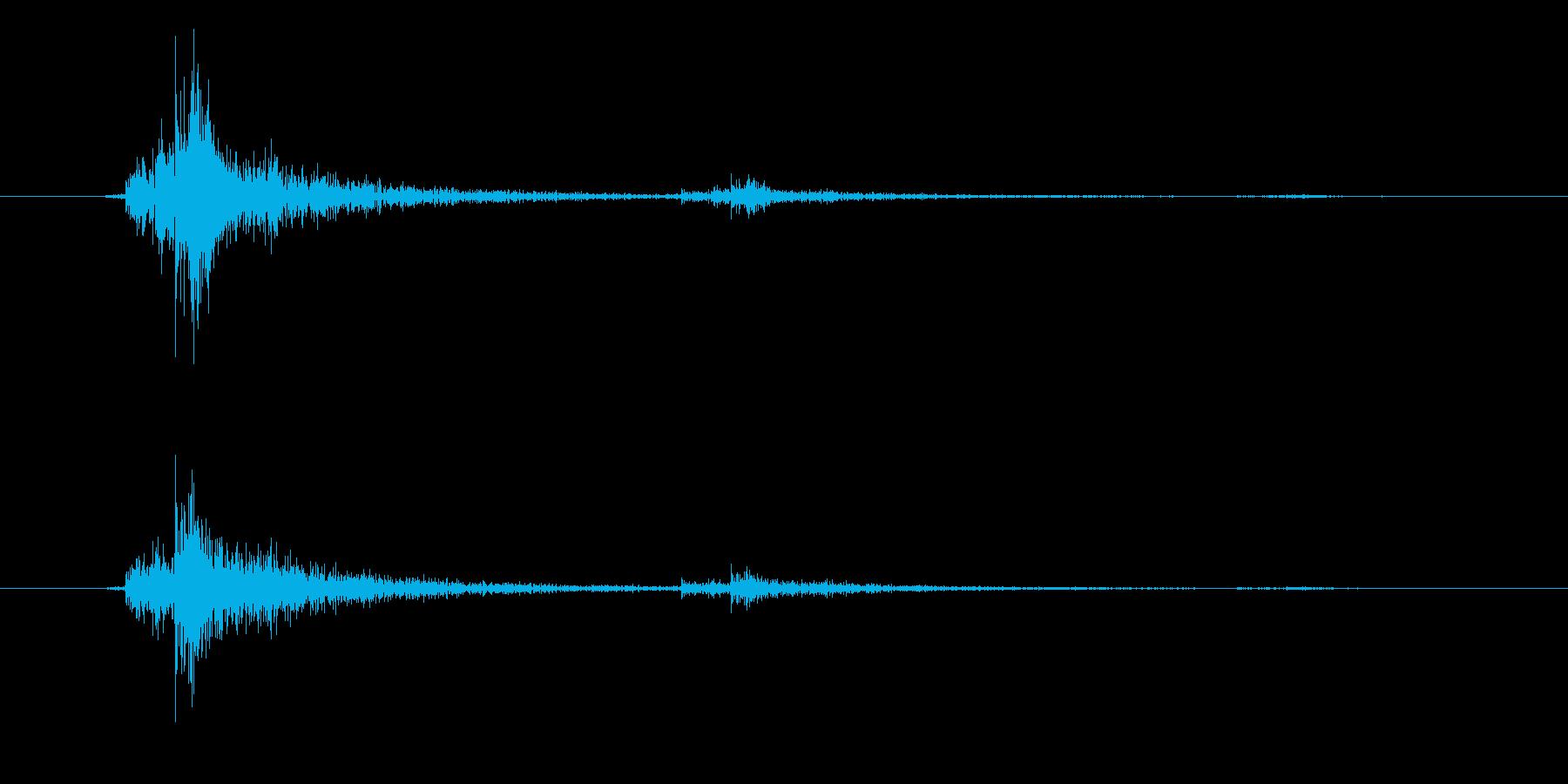 決定/クリック/選択音(シンプル)の再生済みの波形