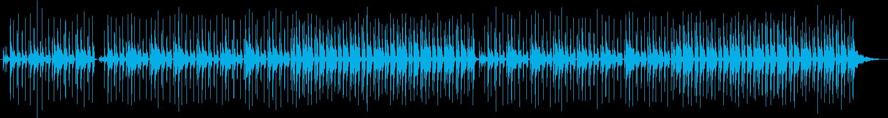 ボサノヴァ風のゆったりとした音楽ですの再生済みの波形