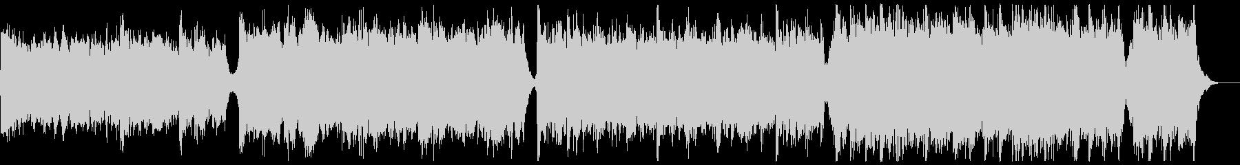 知的なシネマティックピアノの未再生の波形
