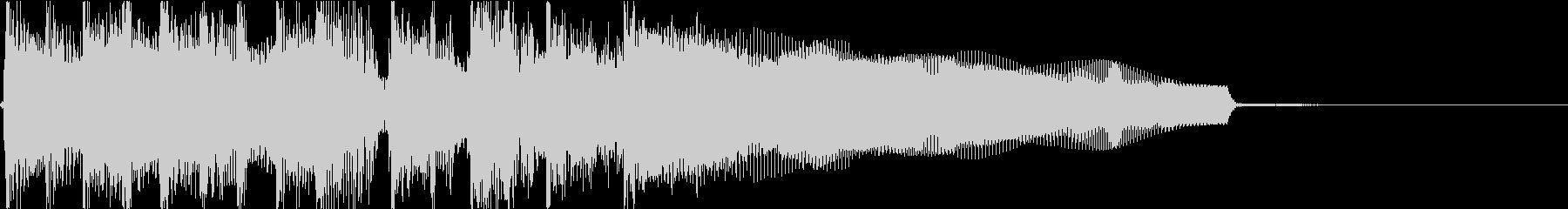 生演奏でのハードなロックジングルM1の未再生の波形