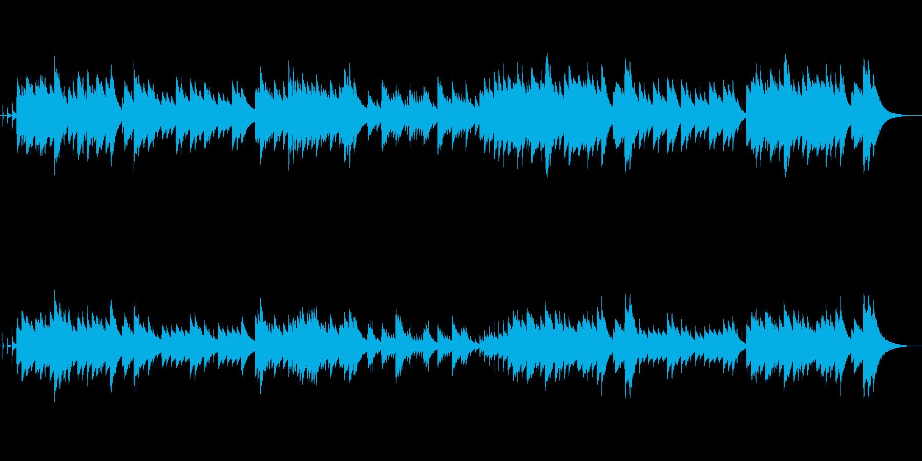 ゆったりと優しいヒーリングミュージックの再生済みの波形