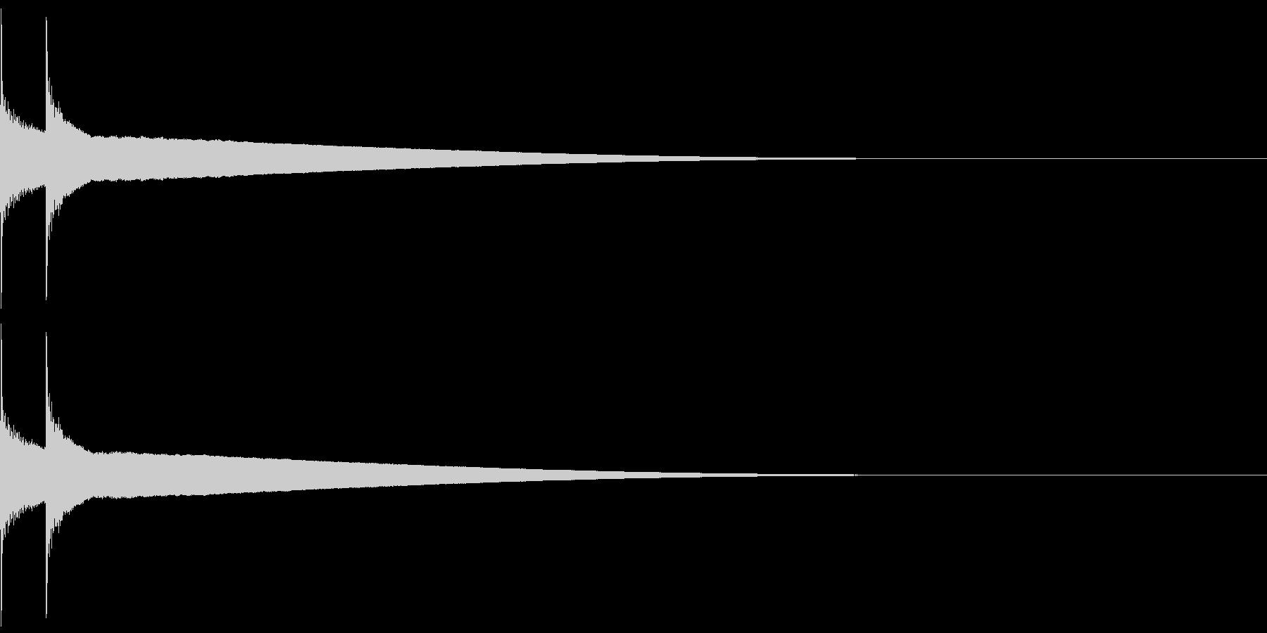 アイテム/コインゲット(音程低め)の未再生の波形