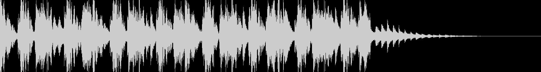 軽快なアテンション音の未再生の波形