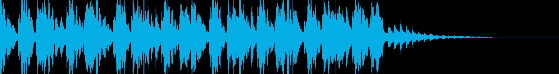 軽快なアテンション音の再生済みの波形
