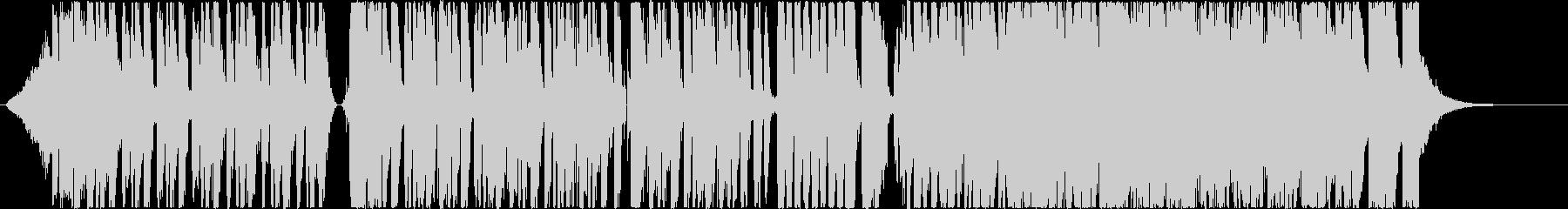 電子楽器と鼓のミステリアスなBGMの未再生の波形