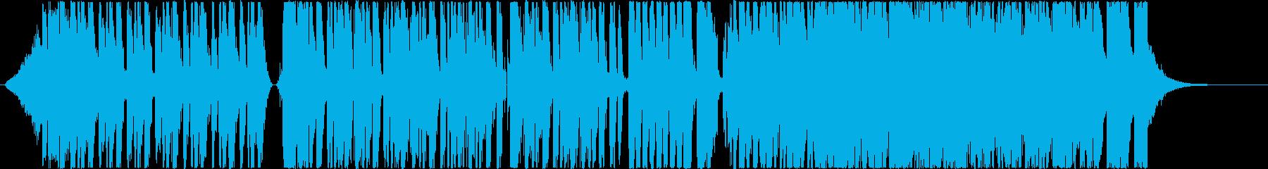 電子楽器と鼓のミステリアスなBGMの再生済みの波形