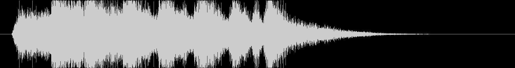 オーケストラでゴージャスなファンファーレの未再生の波形