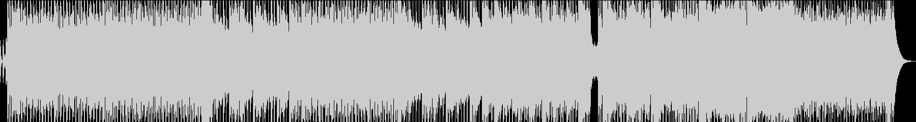 勢いのある三味線ロック/ダンスビートの未再生の波形