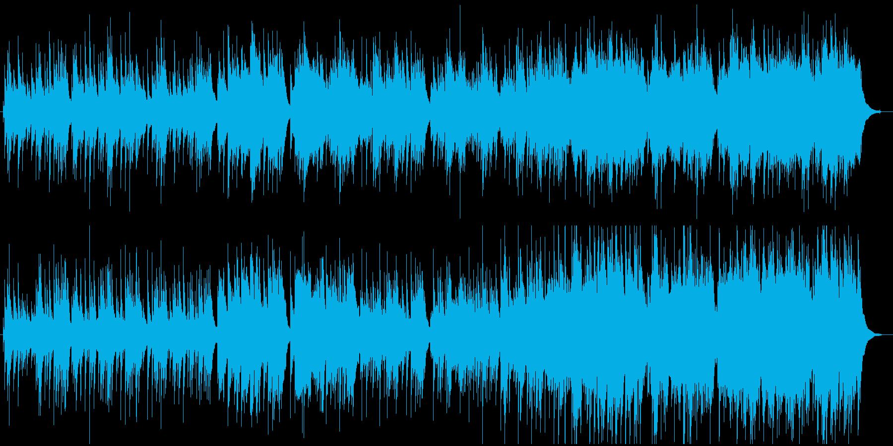 ギターとバイオリンでのグリーンスリーブスの再生済みの波形