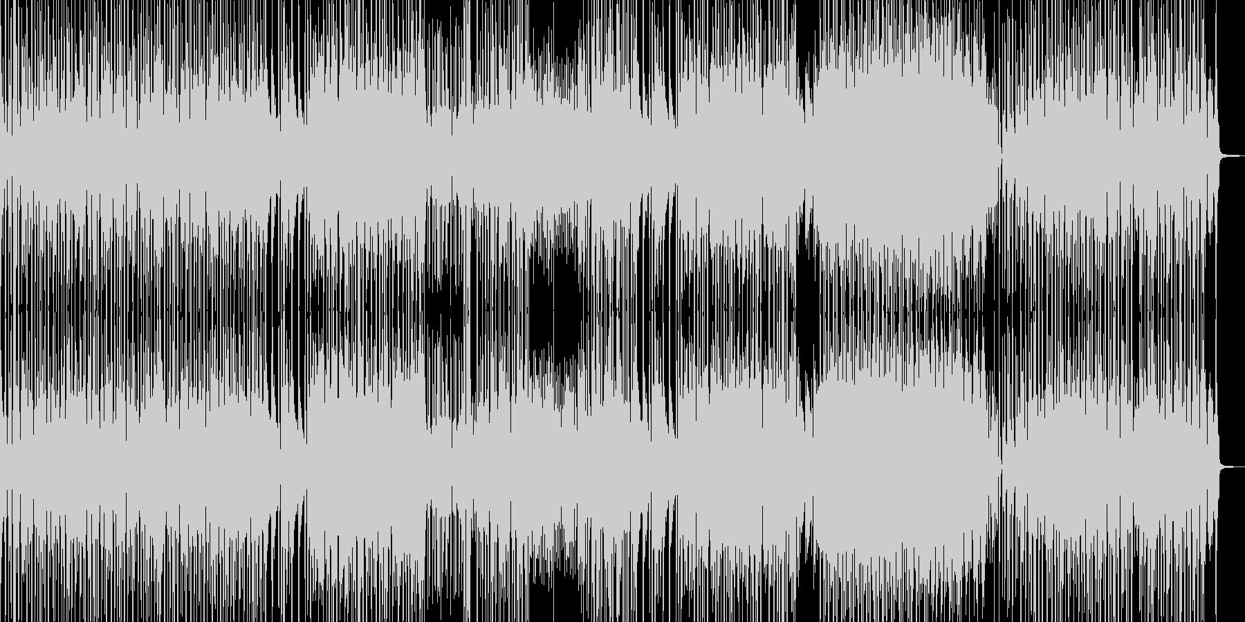 お笑い冒険活劇・ドラムの三味線ファンクの未再生の波形