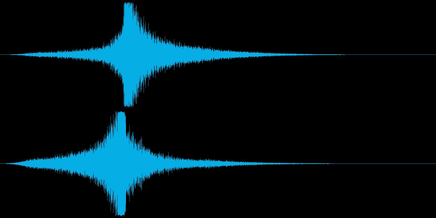 宇宙船・飛翔体#4通過 右〜左ゆっくりの再生済みの波形