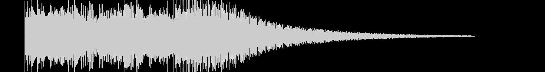 アンニュイな雰囲気のエレピジングルの未再生の波形