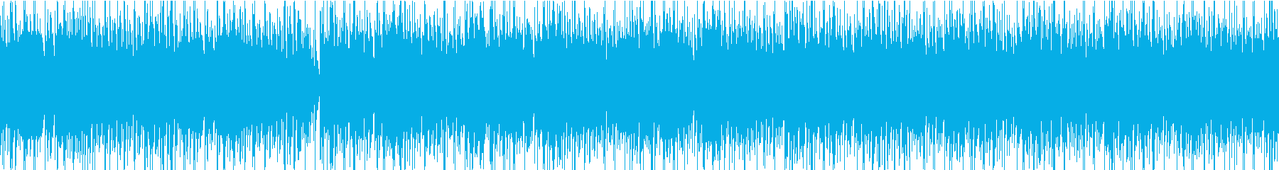 近未来感のある電子系のループ音源の再生済みの波形