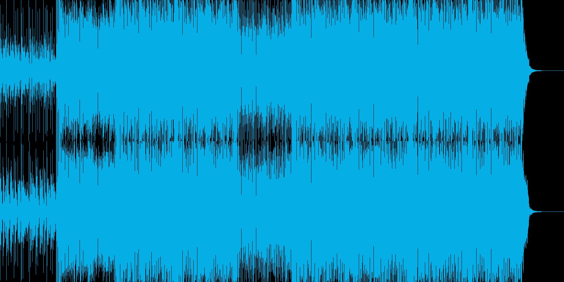 スピード感あるおしゃれなハウス系BGMの再生済みの波形