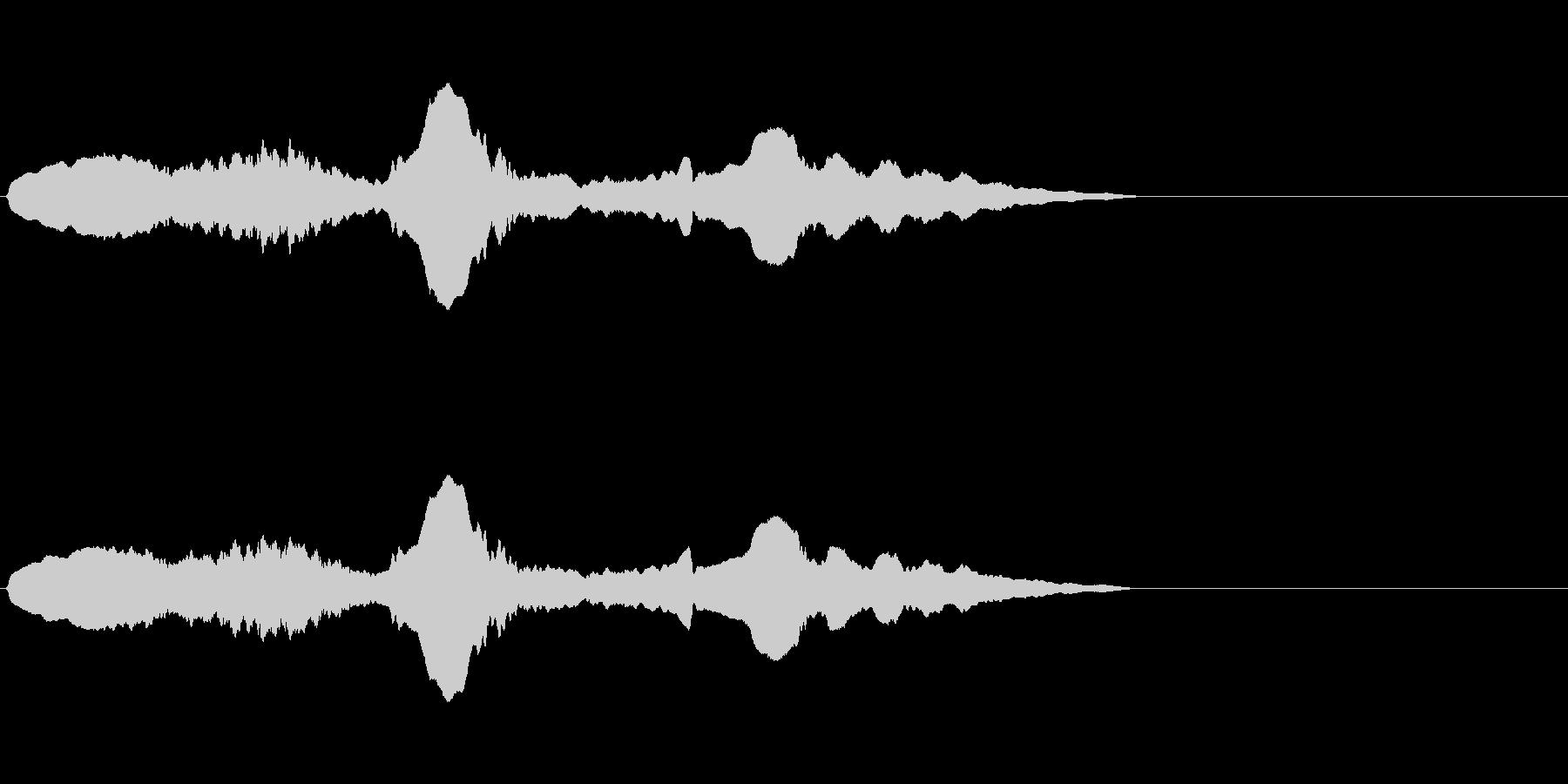 尺八 生演奏 古典風 残響音有 #11の未再生の波形