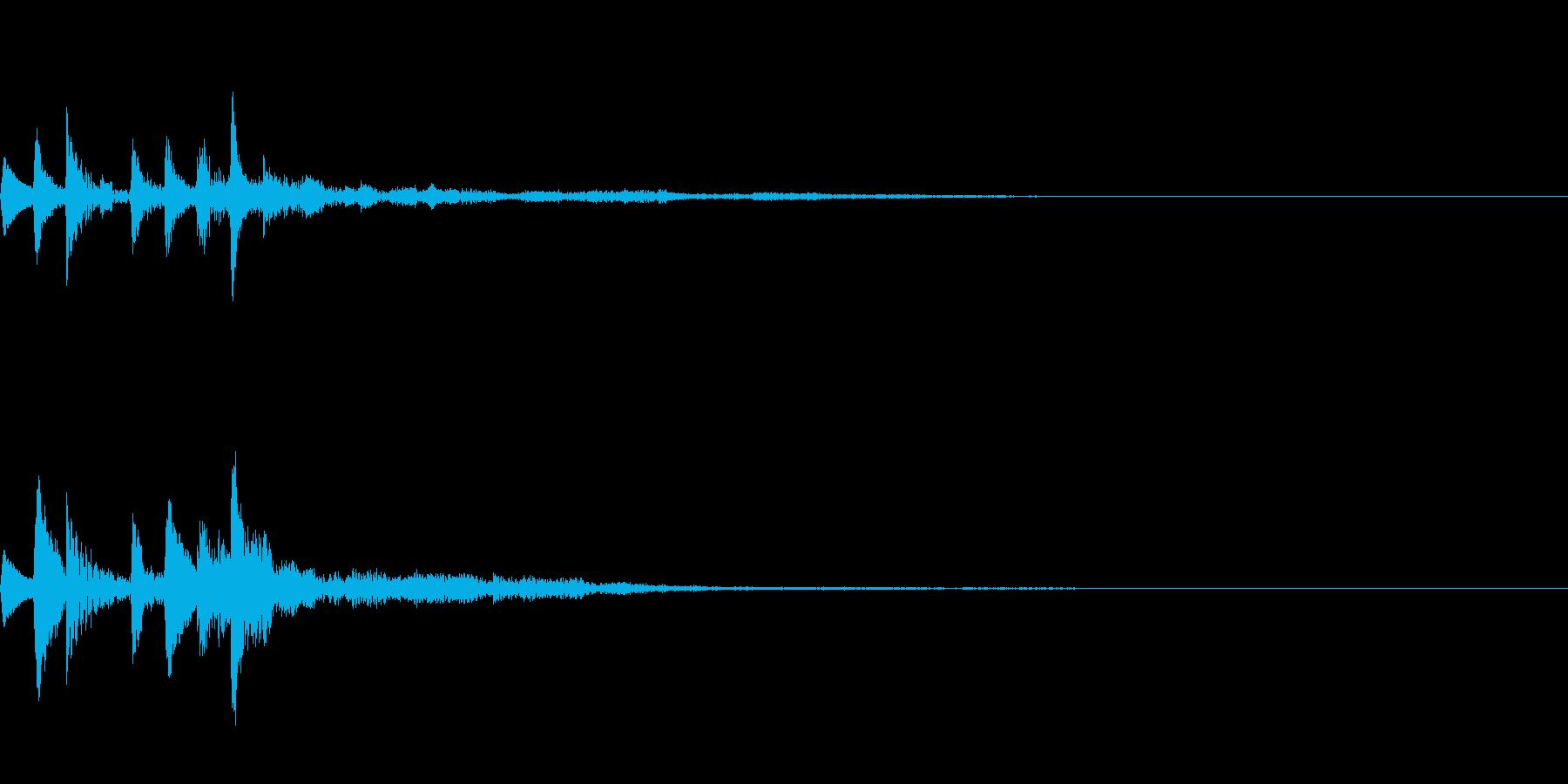 場面転換の再生済みの波形