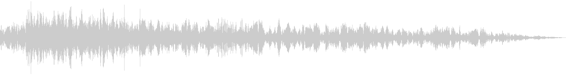 砕け散る音03の未再生の波形