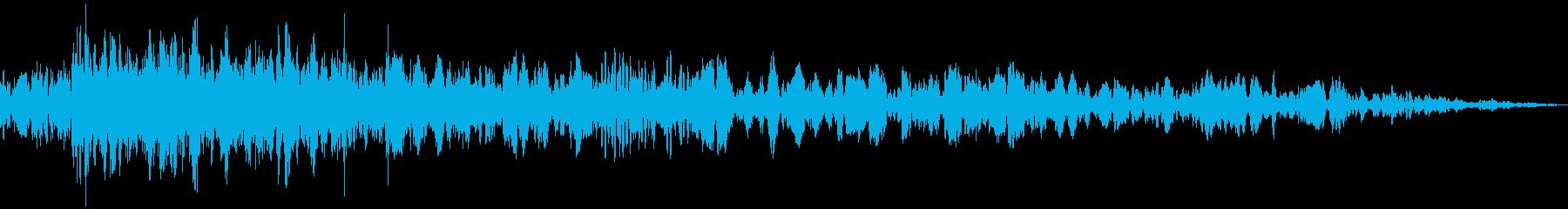 砕け散る音03の再生済みの波形