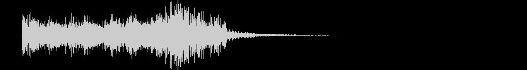 弦のピッチカートによる3秒サウンドロゴの未再生の波形