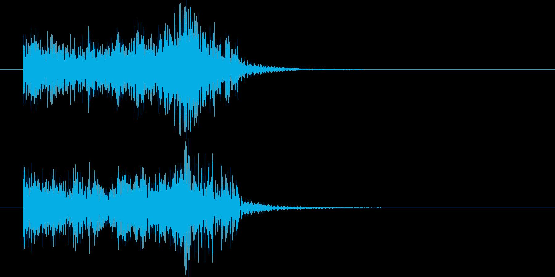 弦のピッチカートによる3秒サウンドロゴの再生済みの波形