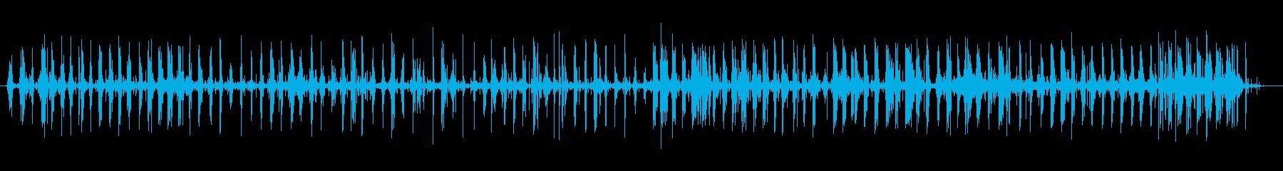 フットステプス、小石、高速; DI...の再生済みの波形