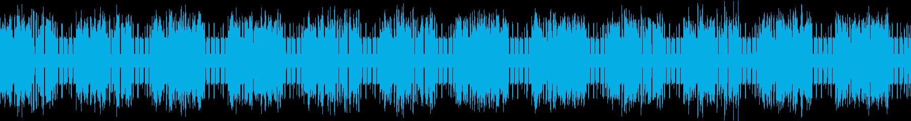 ファミコン風アクションRPGの曲(砂漠)の再生済みの波形