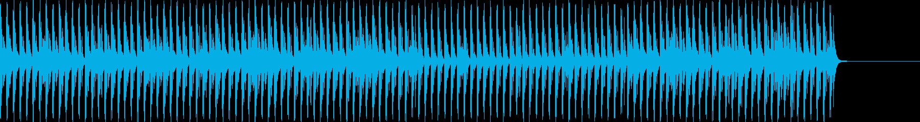琴主体の和風の4つ打ちの再生済みの波形