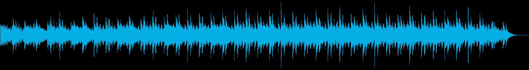 ヒーリング系の瞑想向けミニマル音楽の再生済みの波形