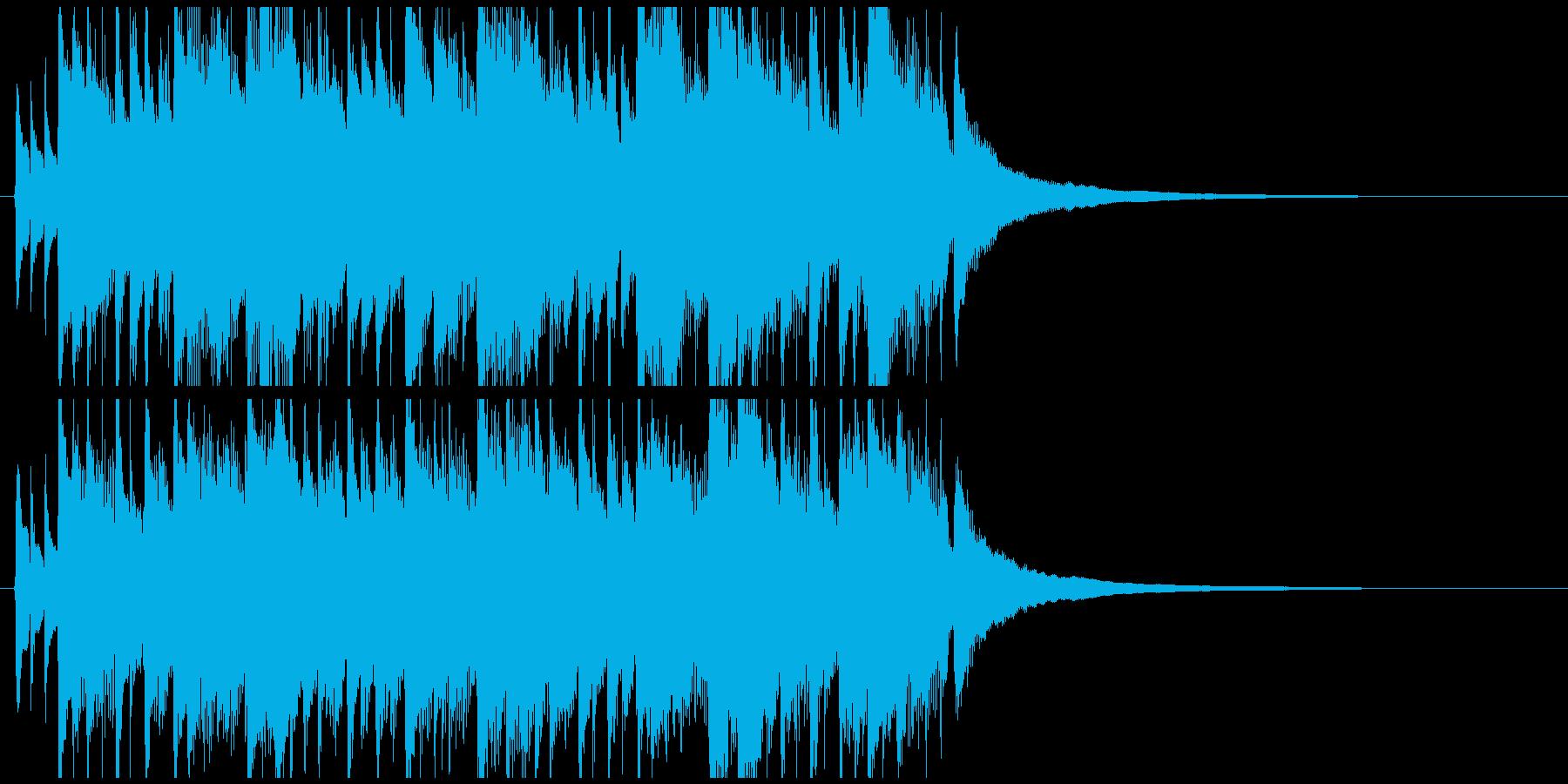 アコギを使った爽やかなジングルの再生済みの波形