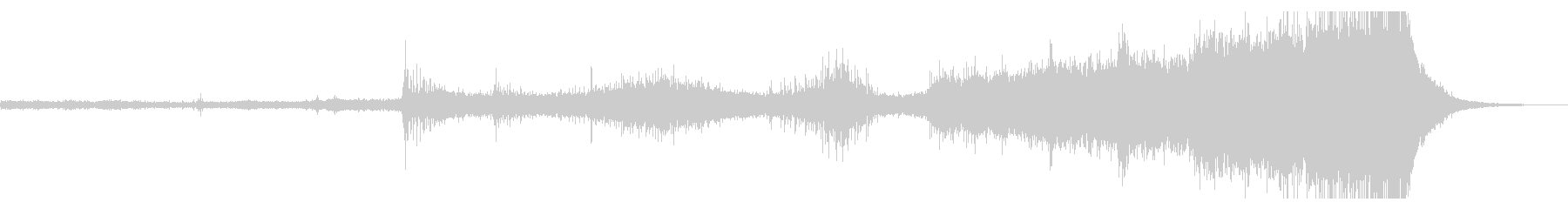 不吉な予兆を駆り立たせるエスニック風音楽の未再生の波形